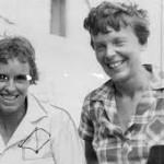 Clara Livingston with the aviatrix.